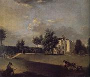 A view of the grounds of  Hampton House Johann Zoffany