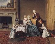 The visit in the lord Johann Zoffany
