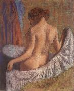 After the Bath,woman witl a towel Edgar Degas