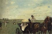 At the Races in the Countryside Edgar Degas