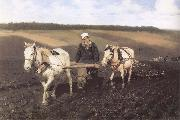 A Ploughman,Leo Tolstoy Ploughing Ilya Repin