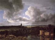 Extensive Landscape with a Ruined Jacob van Ruisdael