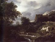 Bleaching Ground in a hollow by a cottage Jacob van Ruisdael
