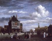 The Dam with the weigh house at Amsterdam Jacob van Ruisdael