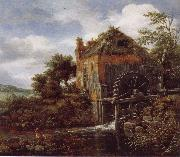 Thatch-Roofedhouse with a water Mill Jacob van Ruisdael