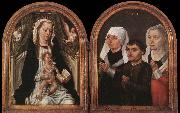 Diptych with the Virgin and Child and Three Donors Master of the Saint Ursula Legend
