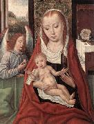 Virgin and Child with an Angel Master of the Saint Ursula Legend