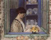 Mis.Frederick in front of the window frederick carl frieseke