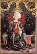Madonna and child in a tradgard Cosimo Tura