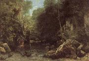 The Shaded  stream Courbet, Gustave