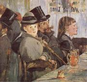 At the Cafe Edouard Manet