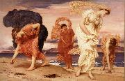 Greek Girls Picking up Pebbles by the Sea Frederick Leighton