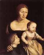 Konstnarens with wife Katherine and Philipp Hans Holbein
