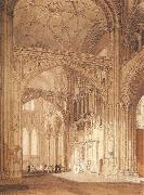 Interior of Salisbury Cathedral,looking towards the North Transept J.M.W. Turner