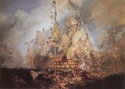 The Battle of Trafalgar J.M.W. Turner