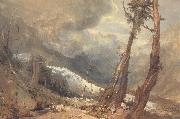 Mer de Glace,in the Valley of Chamouni,Switzerland J.M.W. Turner