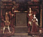 Henry VII, Elizabeth of York, Henry VIII, and Jane Seymour Leemput, Remigius van