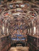 Interior of the Sistine Chapel Michelangelo Buonarroti