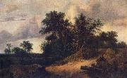 Landscape with a House in the Grove about 1646 RUISDAEL, Jacob Isaackszon van