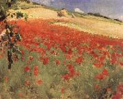 Landscape with Poppies William blair bruce