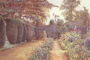 The Gardens at Campsea Ashe.Watercolur (mk46) Ernest Arthur Rowe