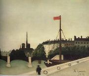 Notre-Dame Seen from Port Henri-IV Henri Rousseau