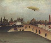 Landscape with a Dirigible Henri Rousseau