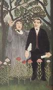Portrait of Guillaume Apollinaire and Marie Laurencin with Poet's Narcissus Henri Rousseau