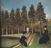 The Artist Painting His Wife Henri Rousseau