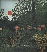 Negro Attacked by a jaguar Henri Rousseau