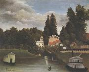 Banks of the Marne(Charenton) The Alfort Mill Henri Rousseau