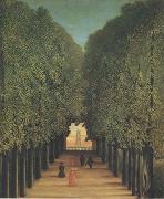 The Avenue,Park of Saint-Cloud Henri Rousseau