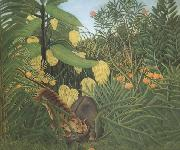 Fight Between Tiger and Buffalo Henri Rousseau