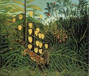 Fight Between a Tiger and a Bull Henri Rousseau
