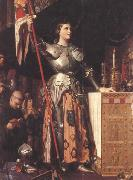 Joan of Arc at the Coronation of Charles VII in Reims Cathedral (mk45) Jean Auguste Dominique Ingres