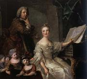 The Artist and his Family Jjean-Marc nattier