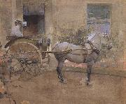 The Governess Cart (mk46) Joseph Crawhall