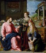 Christ with Mary and Martha Alessandro Allori