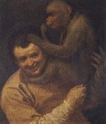 With portrait of young monkeys Annibale Carracci