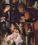 The birth of Christ Hans Holbein