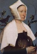 With squirrels and birds swept Europe and the portrait of woman Hans Holbein