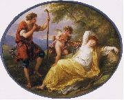 A Sleeping Nymph Watched by a Shepherd Angelica Kauffmann