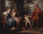 Venus convinces Helen to go with Paris Angelica Kauffmann