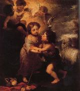 Childhood of Christ and John the Baptist Bartolome Esteban Murillo