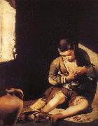 Is pursuing a flea boy Bartolome Esteban Murillo