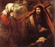 Jesus bearing a cross Bartolome Esteban Murillo