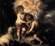 ) Infant Christ Offering a Drink of Water to St John Bartolome Esteban Murillo