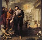 Jesus, those who treat paralysis Bartolome Esteban Murillo