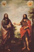 John the Baptist to identify the Messiah Bartolome Esteban Murillo