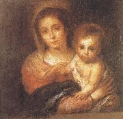 Napkin Virgin and Child Bartolome Esteban Murillo